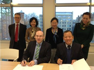 CBI and Secretariat of China-Eurasia Expo sign cooperation agreement, January 2013
