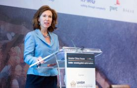 Consul General Caroline Wilson addresses London Stock Exchange's Greater China Forum, June 2014
