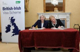 U.K. and Ireland sign historic visa deal, October 2014