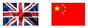 China-UK flags