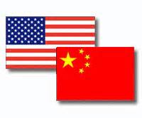 US-China Flags