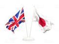 UK-Japan flags
