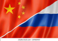 Russia-China flags